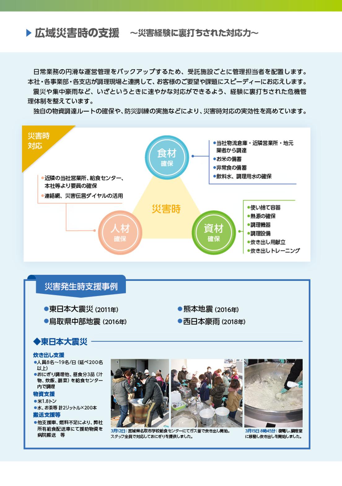 株式会社東洋食品 災害支援
